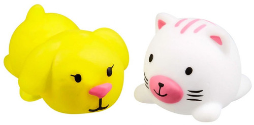 JigglyDoos Yellow Dog & White Cat Squeeze Toy 2-Pack