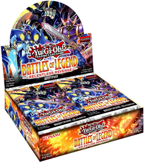 YuGiOh Trading Card Game Battles of Legend Relentless Revenge Booster Box [24 Packs]