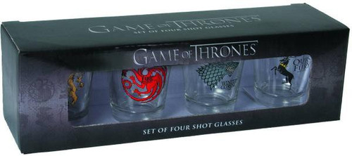 Game of Thrones Stark, Baratheon, Targaryen & Lannister Sigils Shot Glass Set