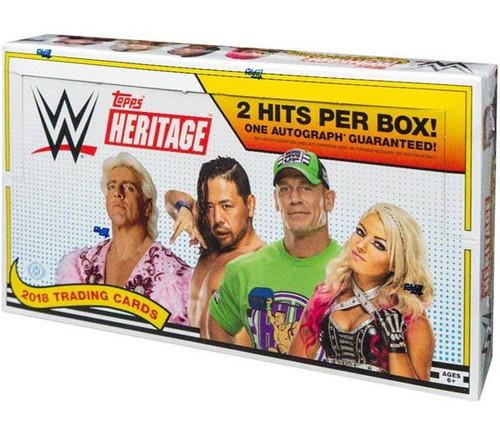 WWE Wrestling Topps 2018 WWE Heritage Trading Card HOBBY Box [24 Packs]
