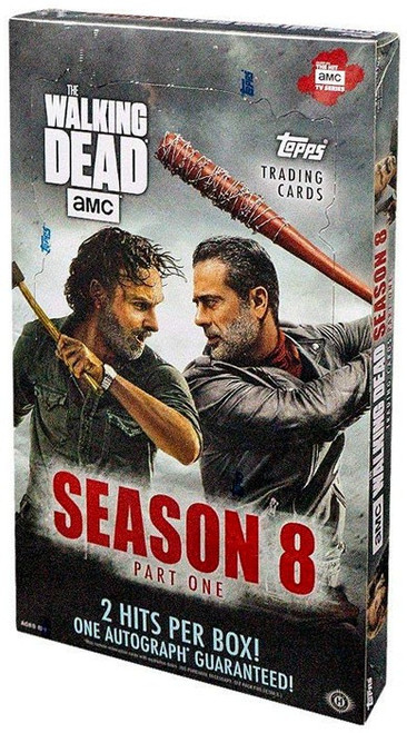 The Walking Dead Topps 2018 Season 8 Part One Trading Card HOBBY Box [24 Packs, 2 Hits Per Box!]