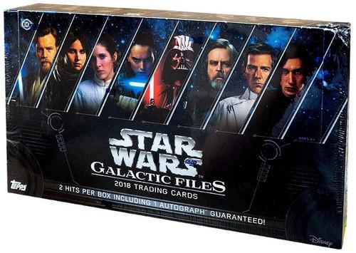 Star Wars Topps 2018 Galactic Files Trading Card HOBBY Box [24 Packs]