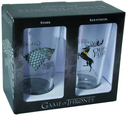 Game of Thrones Stark & Baratheon Pint Glass Set