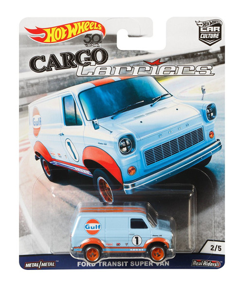 Hot Wheels Cargo Carriers Ford Transit Super Van Diecast Car #2/5