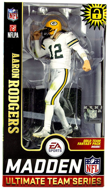 McFarlane Toys NFL Green Bay Packers EA Sports Madden 19 Ultimate Team Series 1 Aaron Rodgers Action Figure [White Jersey]