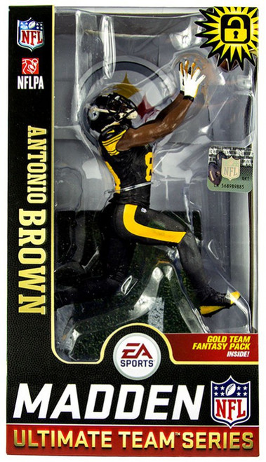McFarlane Toys NFL Pittsburgh Steelers EA Sports Madden 19 Ultimate Team Series 1 Antonio Brown Action Figure [Black Pants]