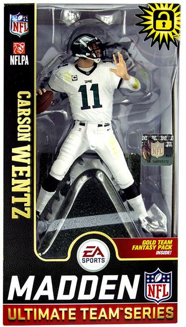 McFarlane Toys NFL Philadelphia Eagles EA Sports Madden 19 Ultimate Team Series 1 Carson Wentz Action Figure [White Pants]
