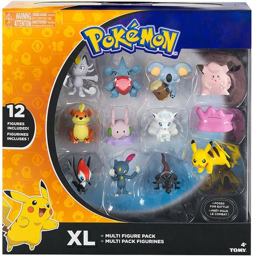Pokemon XL 2-Inch Mini Figure 12-Pack [2018 Version with Alolan Meowth, Clefairy, Growlithe, Etc.]