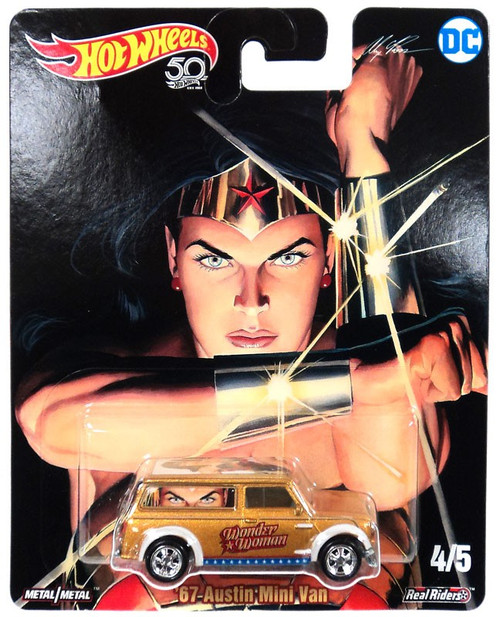 Hot Wheels DC Real Riders '67 Austin Mini Van Die-Cast Car #4/5