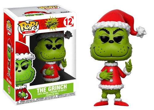 Funko Dr. Seuss POP! Books Santa Grinch Vinyl Figure #12 [Green Regular Version, Damaged Package]