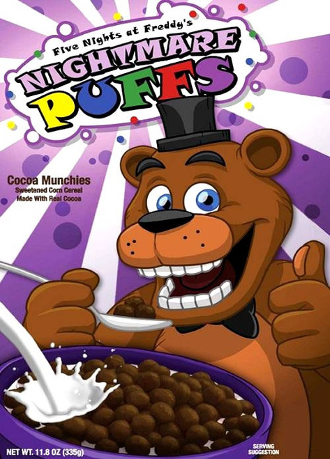 Five Nights at Freddy's Nightmare Puffs Exclusive Breakfast Cereal