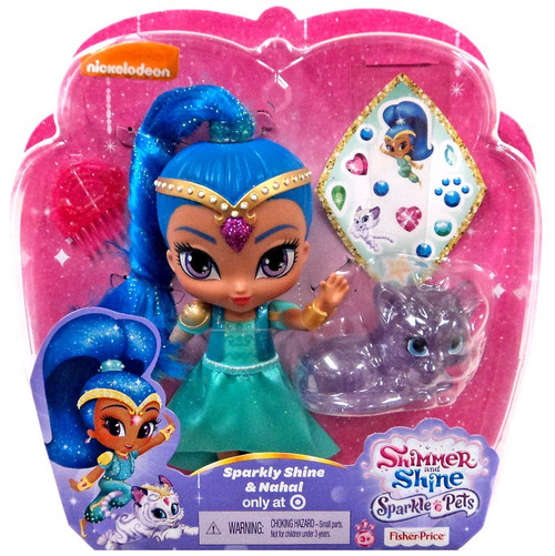 Fisher Price Shimmer & Shine Sparkle Pets Sparkly Shine & Nahal Exclusive 6-Inch Basic Doll