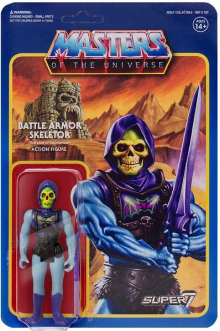 ReAction Masters of the Universe Battle Armor Skeletor Action Figure [Battle Damaged Version]