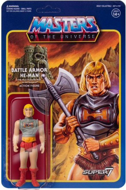ReAction Masters of the Universe Battle Armor He-Man Action Figure [Battle Damaged Version]