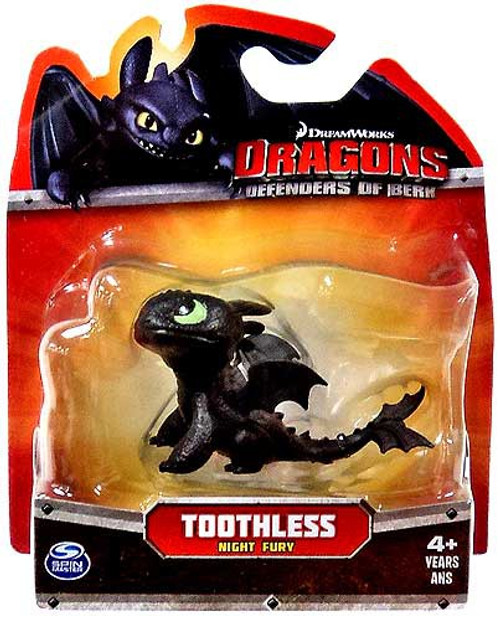 How to Train Your Dragon Dragons Defenders of Berk Toothless 3-Inch Mini Figure [Night Fury Looking Up, Damaged Package]