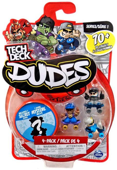 Tech Deck Dudes Major Air, Grillz & Nollie Mini Figure 4-Pack
