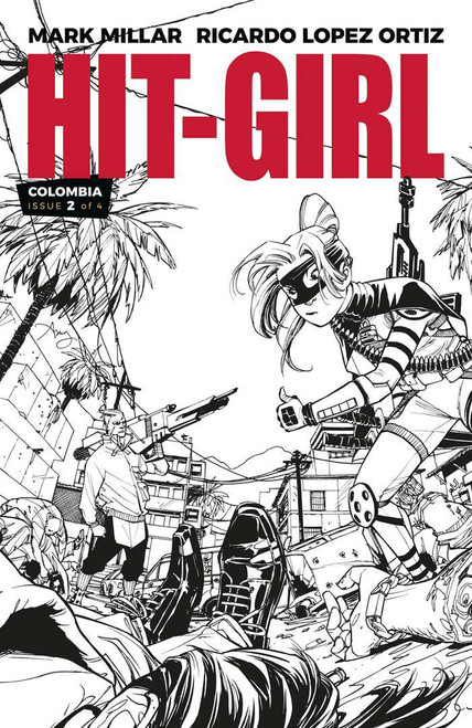 Image Comics Hit-Girl #2 Comic Book [Black & White Variant Cover]