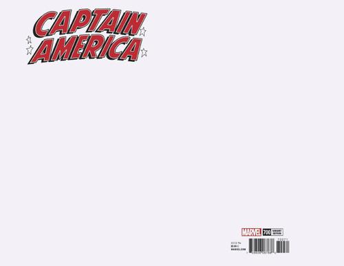 Marvel Comics Captain America #700 Comic Book [Blank Variant Cover]