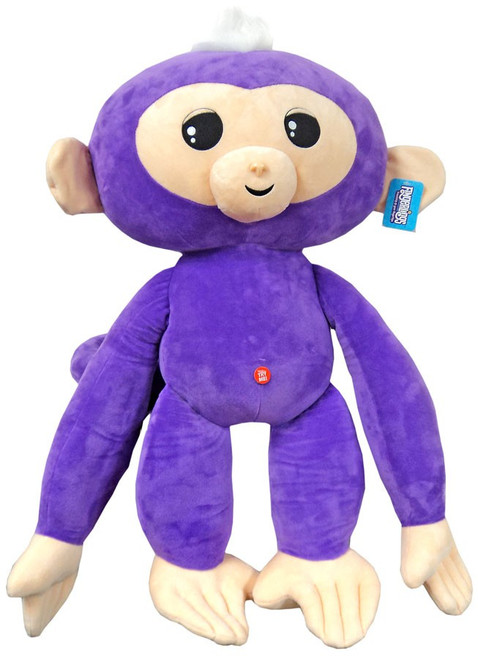 Fingerlings Baby Monkey Purple with White Hair 27-Inch Jumbo Plush with Sound