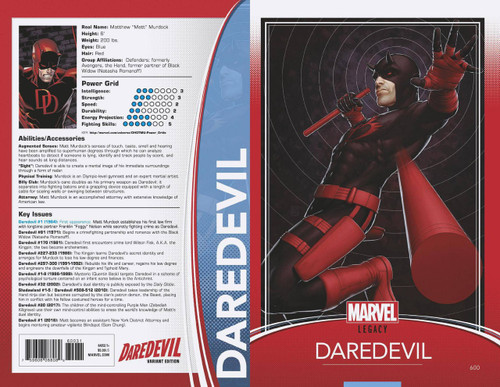 Marvel Comics Daredevil #600 Comic Book [Christopher Trading Card Cover Variant]
