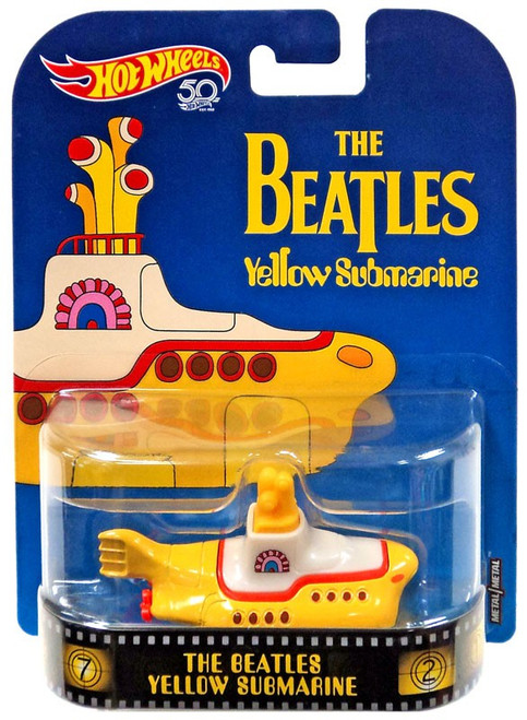 Hot Wheels HW Retro Entertainment The Beatles Yellow Submarine Diecast Car