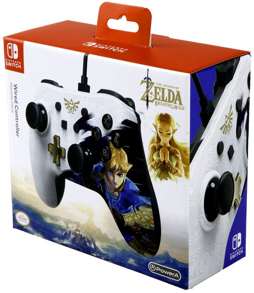 Nintendo Switch Zelda Breath of the Wild Wired Exclusive Video Game Controller [White Version]