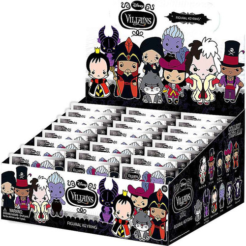 3D Figural Keyring Disney Villains Series 1 Mystery Box [24 Packs]