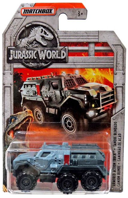 Jurassic World Matchbox Armored Action Truck Diecast Vehicle