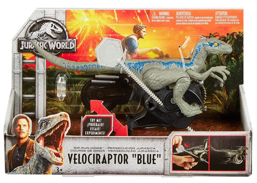 Jurassic World Fallen Kingdom Rip Run Dinos Velociraptor Blue Action Toy