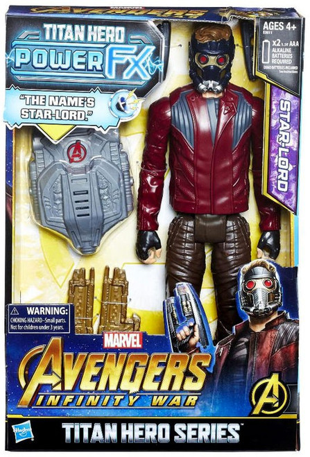 Marvel Avengers Infinity War Titan Hero Series Power FX Star Lord Action Figure