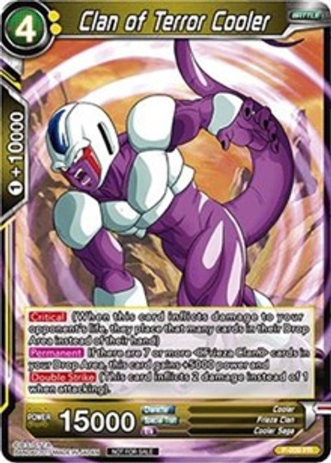Dragon Ball Super Collectible Card Game Tournament Pack 1 Promo Foil Clan of Terror Cooler P-009
