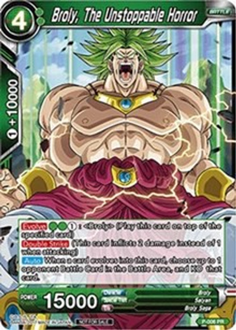 Dragon Ball Super Collectible Card Game Tournament Pack 1 Promo Broly, The Unstoppable Horror P-006