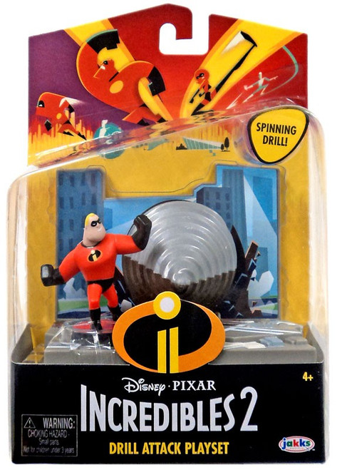 Disney / Pixar Incredibles 2 Drill Attack Playset