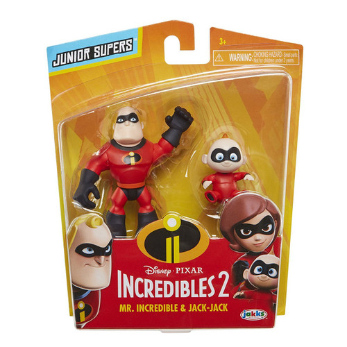 Disney / Pixar Incredibles 2 Junior Supers Mr. Incredible & Jack-Jack 3-Inch Mini Figure 2-Pack
