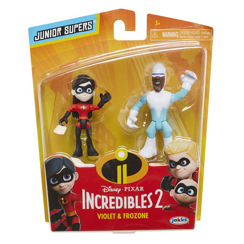 Disney / Pixar Incredibles 2 Junior Supers Violet & Frozone 3-Inch Mini Figure 2-Pack
