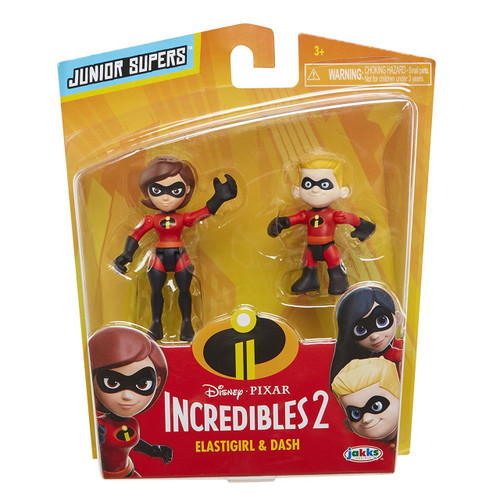 Disney / Pixar Incredibles 2 Junior Supers Elastigirl & Dash 3-Inch Mini Figure 2-Pack