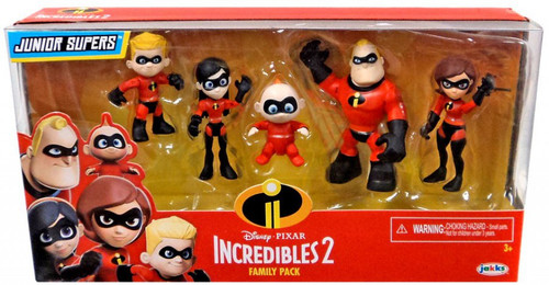 Disney / Pixar Incredibles 2 Junior Supers Family Pack Action Figure 5-Pack
