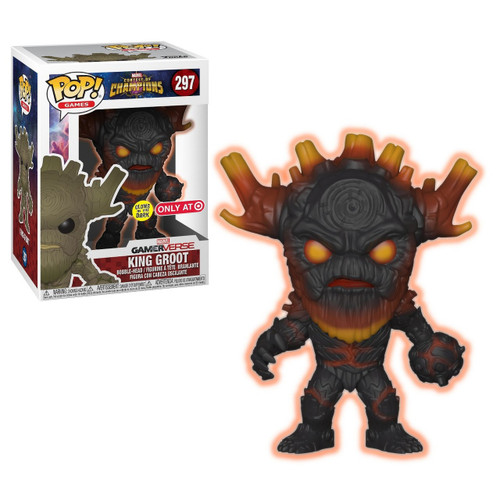 Funko Contest of Champions POP! Marvel King Groot Exclusive Vinyl Bobble Head #297 [Glow-in-the-Dark]