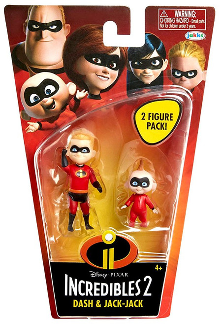Disney / Pixar Incredibles 2 Super Poseable Series 1 Dash & Jack-Jack Basic Action Figure