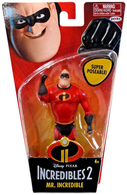 Disney / Pixar Incredibles 2 Super Poseable Series 1 Mr. Incredible Basic Action Figure