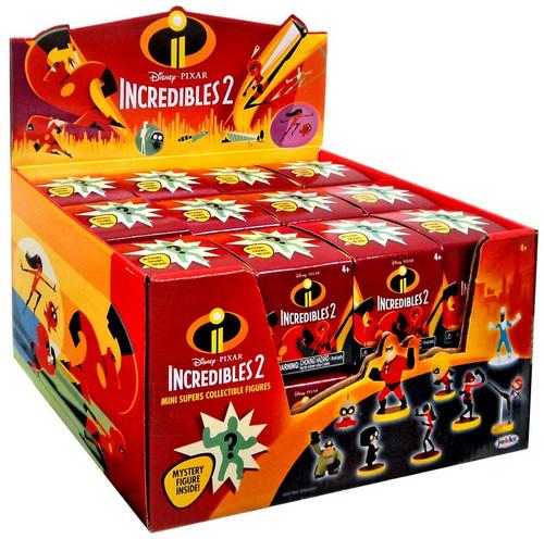 Disney / Pixar Incredibles 2 Mini Supers Figure Series 1 Mystery Box [24 Packs]
