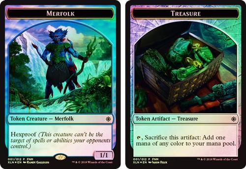 MtG Ixalan Token Foil Merfolk / Treasure Token