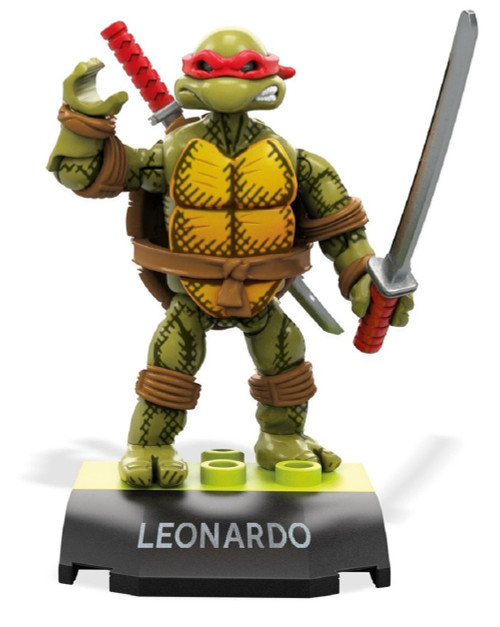 Mega Construx Teenage Mutant Ninja Turtles Heroes Series 3 Leonardo Mini Figure