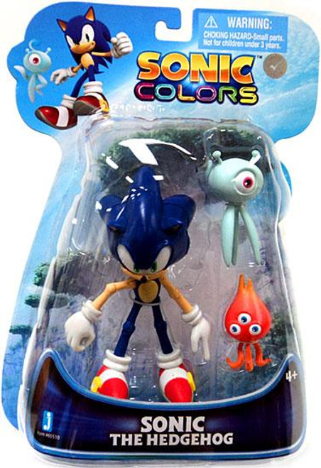 Sonic The Hedgehog Sonic Colors Sonic Action Figure [With Wisps, Damaged Package]