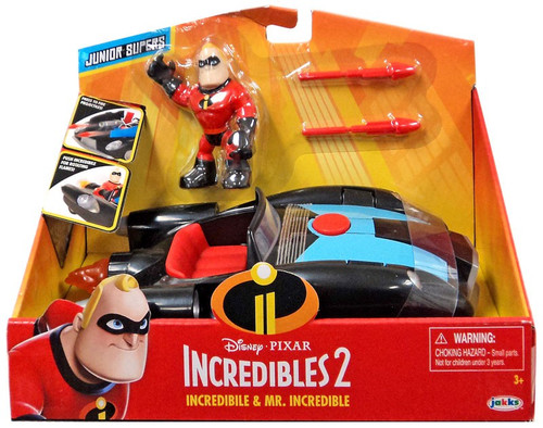 Disney / Pixar Incredibles 2 Junior Supers Incredibile & Mr. Incredible 3-Inch Vehicle