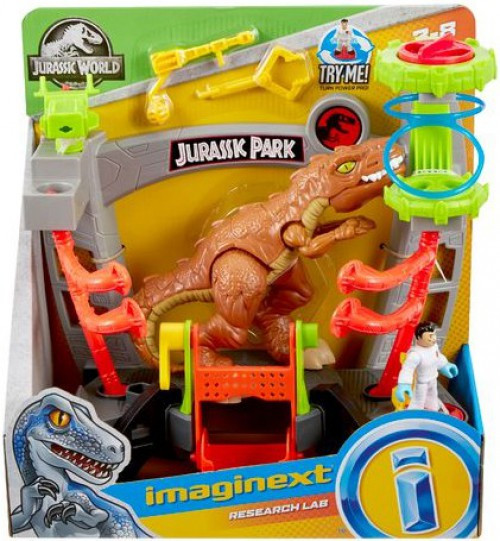 Fisher Price Jurassic World Imaginext Research Lab Playset