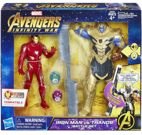Marvel Avengers Infinity War Iron Man vs Thanos Bat Action Figure 2-Pack