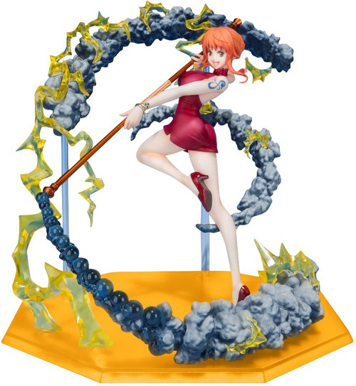 One Piece Figuarts ZERO Nami 6.1-Inch Statue [Black Ball]