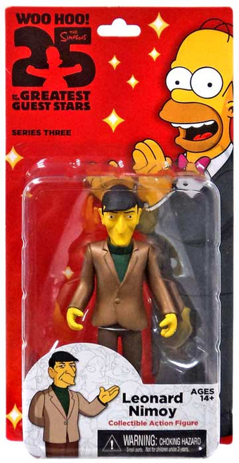 The Simpsons Greatest Guest Stars Series 3 Leonard Nimoy Action FIgure