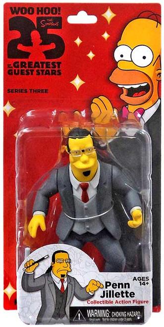 NECA The Simpsons Greatest Guest Stars Series 3 Penn Jillette Action FIgure